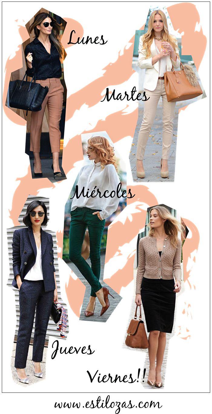 estilozas: 5 looks de oficina para la semana