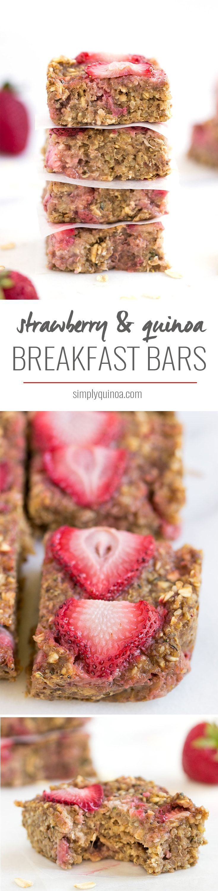How good do these quinoa breakfast bars look? Love that they're FLOURLESS and healthy -- naturally gluten-free + vegan too!