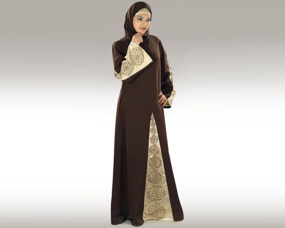 MyBatua+Samah+Brown+Abaya/Jilbab+AY-293+Dual+Color+by+MyBatua