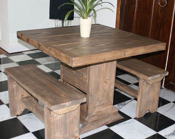 3 foot small dining room set for 4 / dinette set for by ModernRust, $399.00