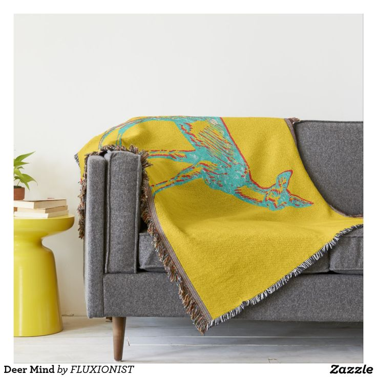"""Deer Mind"" Throw - $85.00 Made by Zazzle Home / Design: Fluxionist"