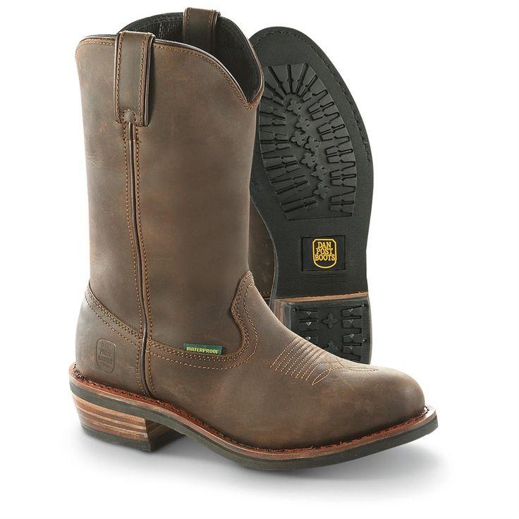 Dan Post Men's Albuquerque Waterproof Steel Toe Cowboy Boots, Brown