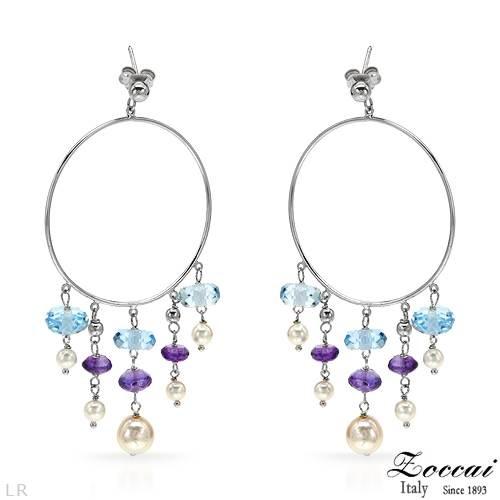 Earring - #ZOCCAI #Amethyst #Sterling_Silver #Earrings $138