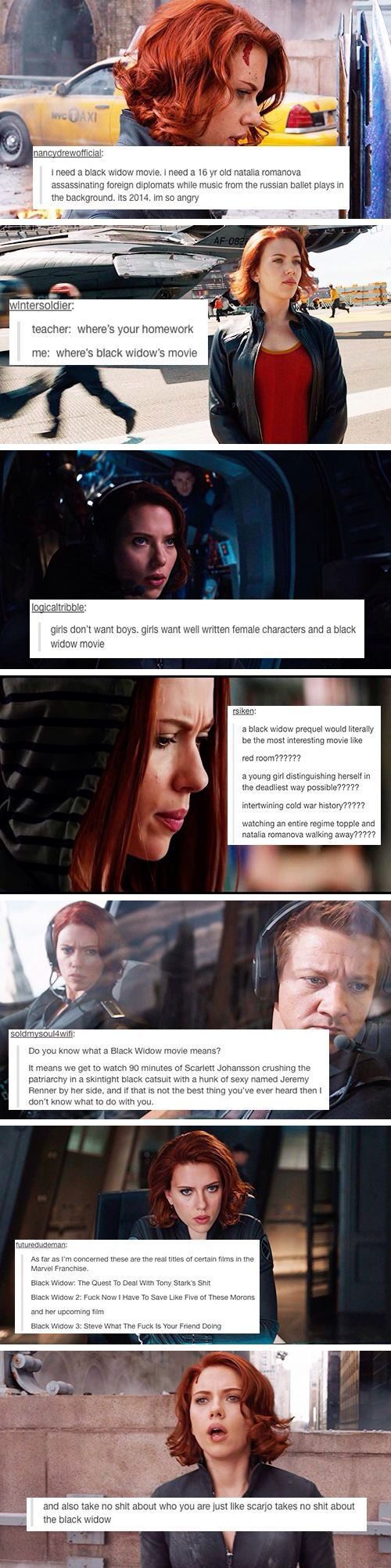 Why has a Black Widow movie not happened yet?????