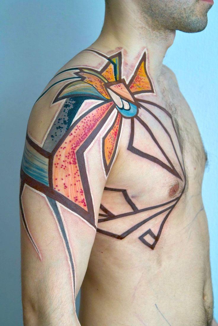 GRISHA MASLOV: Tattoo Abstract, Girls Tattoo, Art Tattoo, Watercolor Tattoo, Abstract Tattoo, Maslov Tattoo, Geometric Tattoo, Woman Tattoo, Tattoo Ink