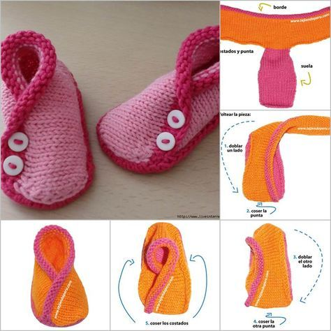 DIY Adorable Knitted Kimono Baby Booties | iCreativeIdeas.com Follow Us on Facebook --> https://www.facebook.com/icreativeideas