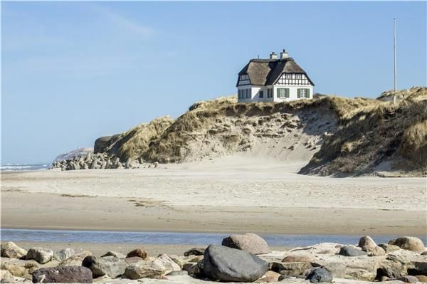beautiful house by the beach in #Denmark