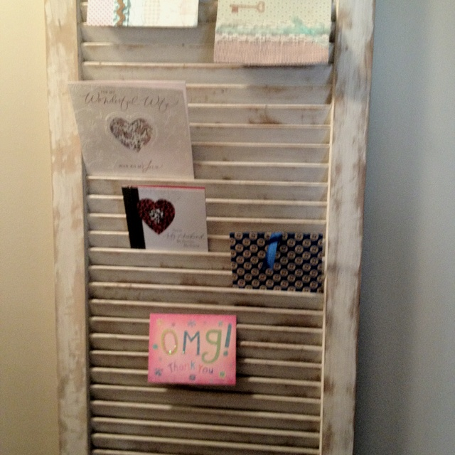 Shutter greeting card holder