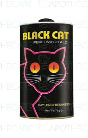 Black Cat Perfumed Talc 70 g #blackcat #perfumedtalc #powder #powpow #peridotproducts #sehatpk #onlinepharmacy #fazaldin #yehaapkisehathai #grooming