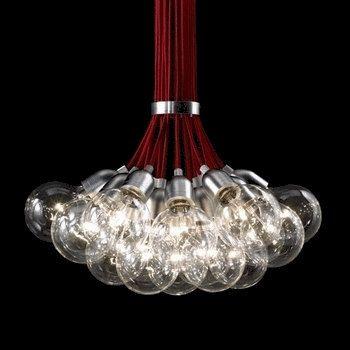 Handmade Pendant Light Chandelier Edison Restoration Industrial style Globes Fabric cables EGST