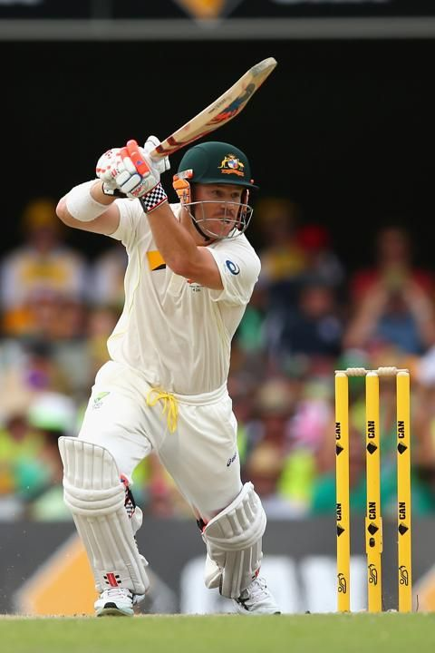 Australia v England - First Test: Day 3 - David Warner of Australia bats during day three of the First Ashes Test match between Australia and England at The Gabba on November 23, 2013 in Brisbane, Australia.