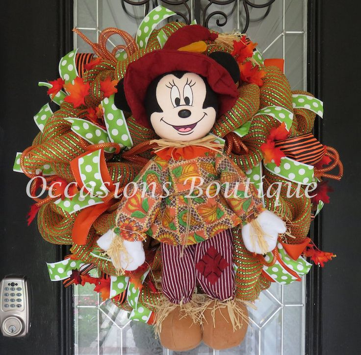 Halloween Wreath, Fall Wreath, Halloween Decoration, Front door wreath, Wreath for door, Large Wreath, Ready to Ship by OccasionsBoutique on Etsy