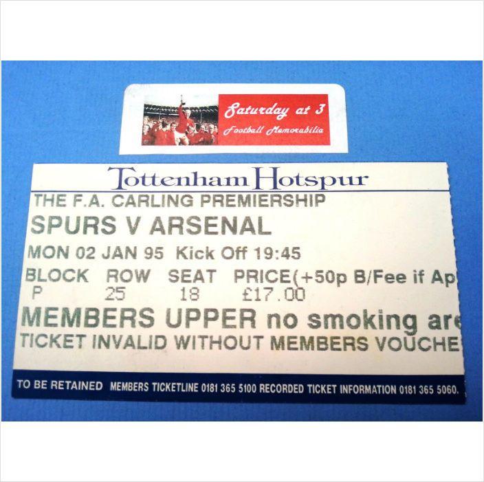 Tottenham Hotspur Vs Man United Tickets