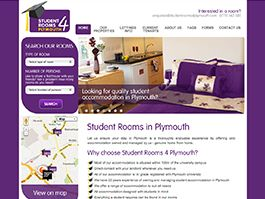 Student Rooms 4 Plymouth Content Management Website Design