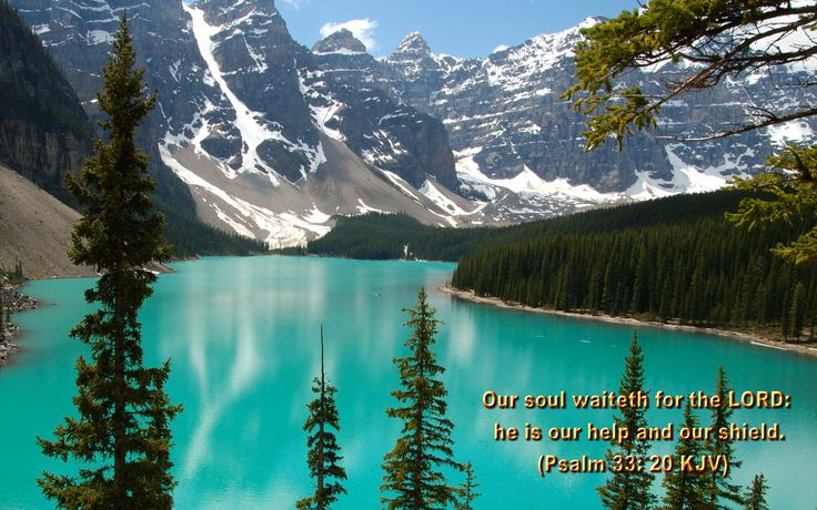 Bible Verse Psalm 33:20 Quote on God's Help: Our soul waiteth for the Lord; He is our help and our shield. Psalm 33:20 ~ Bible
