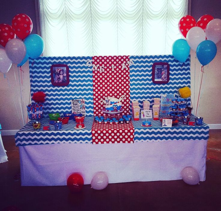 Dr. Seuss 1st birthday party