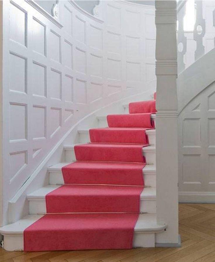 Pink Carpet Runner For Stairs Stunning Carpet Runner For
