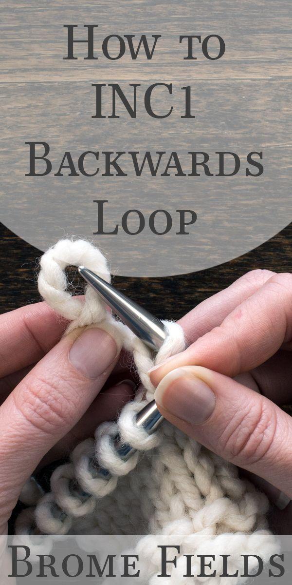 O que o INC1 {backwards loop} na malharia significa?