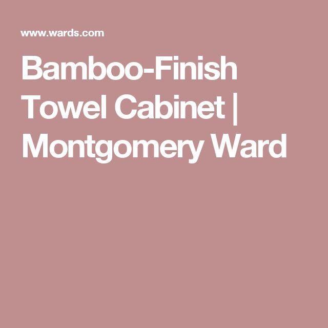 Bamboo-Finish Towel Cabinet | Montgomery Ward