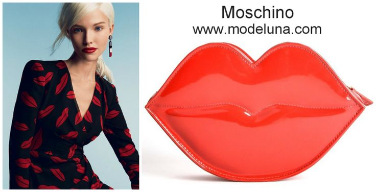 Moschino Parfums Lips Clutch from MODELUNA $69 Buy online at http://www.modeluna.com/product/moschino-lips-clutch
