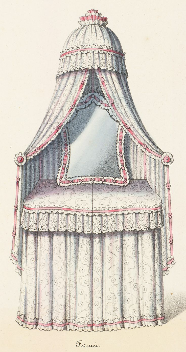 874 best vintage vanity images on pinterest bath black and colors without reading the article im going to guess that this is an early skirted vanity with a canopy for privacy geotapseo Gallery