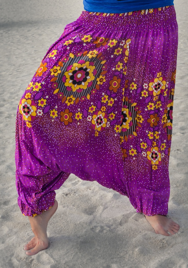 Women's Colorful Thai Harem Pants. $20.00, via Etsy.