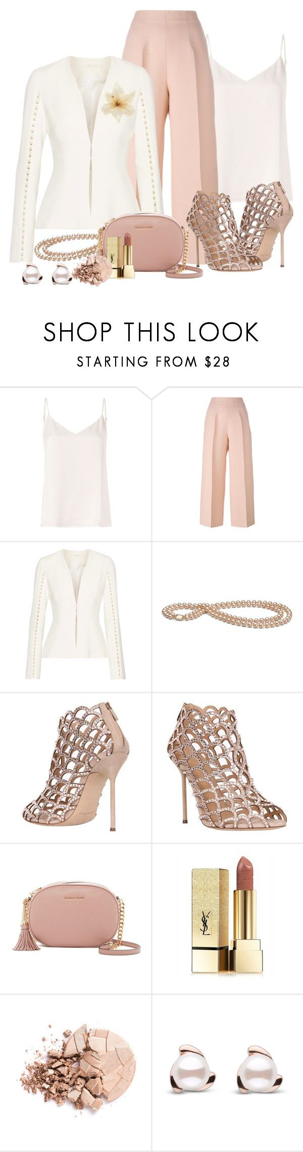 """""""All right, let's get back to work!"""" by ela79 ❤ liked on Polyvore featuring L'Agence, Fendi, Jonathan Simkhai, Sergio Rossi, MICHAEL Michael Kors, Yves Saint Laurent, Anastasia Beverly Hills and Clips"""