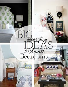 Working With: A Small Master Bedroom - These ideas might actually work