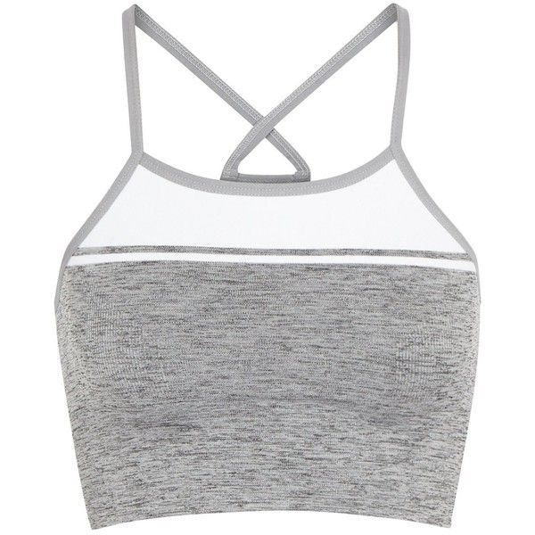 LNDR Yoga Stretch Jersey Bra Top - Size M/L ($79) ❤ liked on Polyvore featuring activewear, stretch jersey, bra top, yoga bra tops, yoga activewear and yoga sportswear