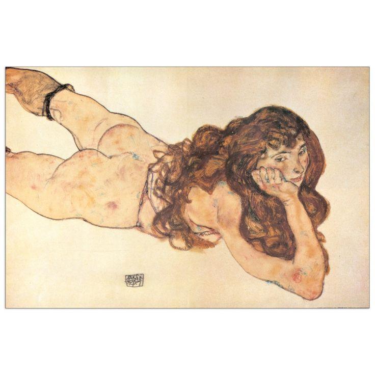 SCHIELE - AM BAUCH LIEGENDER WEIBLICHER AKT 1917 (140x93 cm / 100x66 cm) #artprints #interior #design #art #print #iloveart #followart  Scopri Descrizione e Prezzo http://www.artopweb.com/EC17602