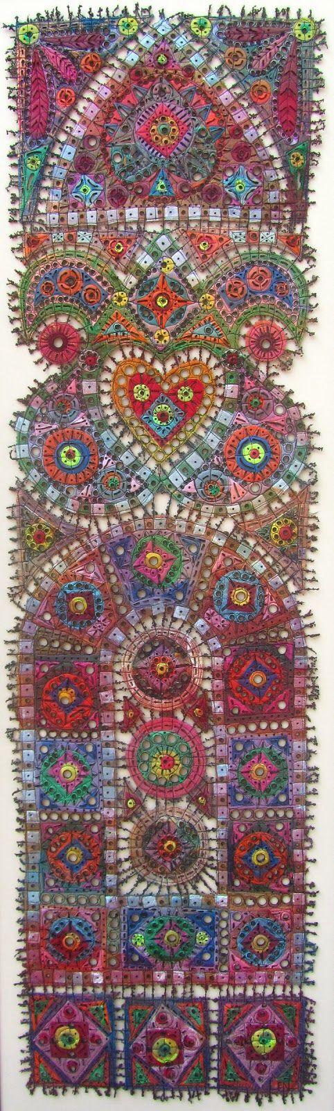 Susan Lenz - stained glass fiber art