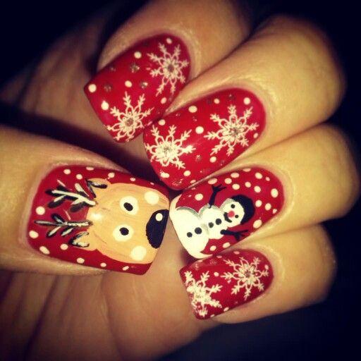 Le mie unghie natalizie
