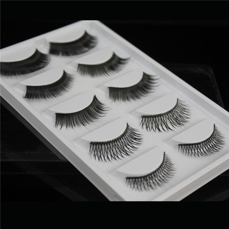 False eyelashes 5 styles/pairs mixed thick cross fake eyelashes nude makeup eyelashes extensions 204701