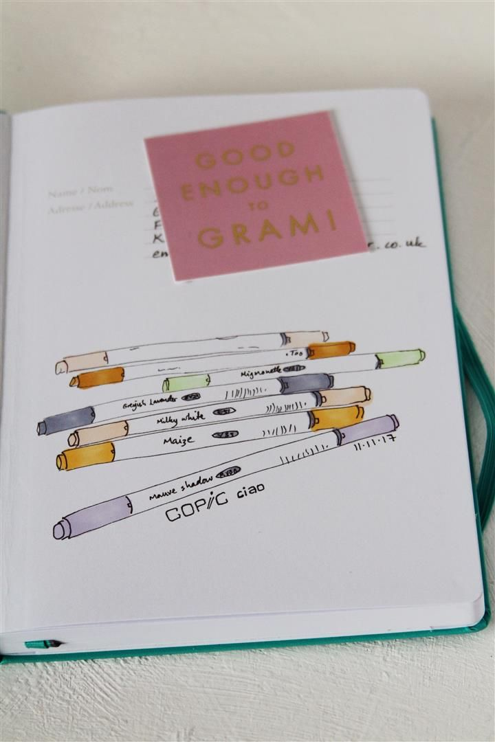 emuse: Leuchtturm sketchbook and Copic markers