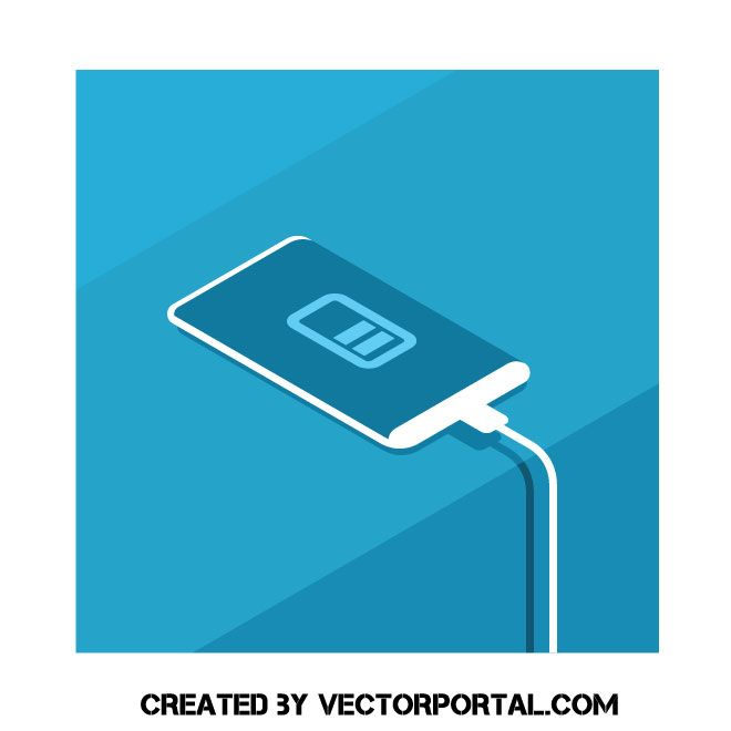 Smartphone Charging Vector Free Free Vector Illustration Free Vector Images