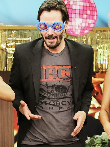 Star Tracks: Monday, October 13, 2014 | A SHADY GUY | Keanu Reeves goofs off in some silly spectacles while making an appearance on Despierta América on Thursday to promote his new film John Wick.