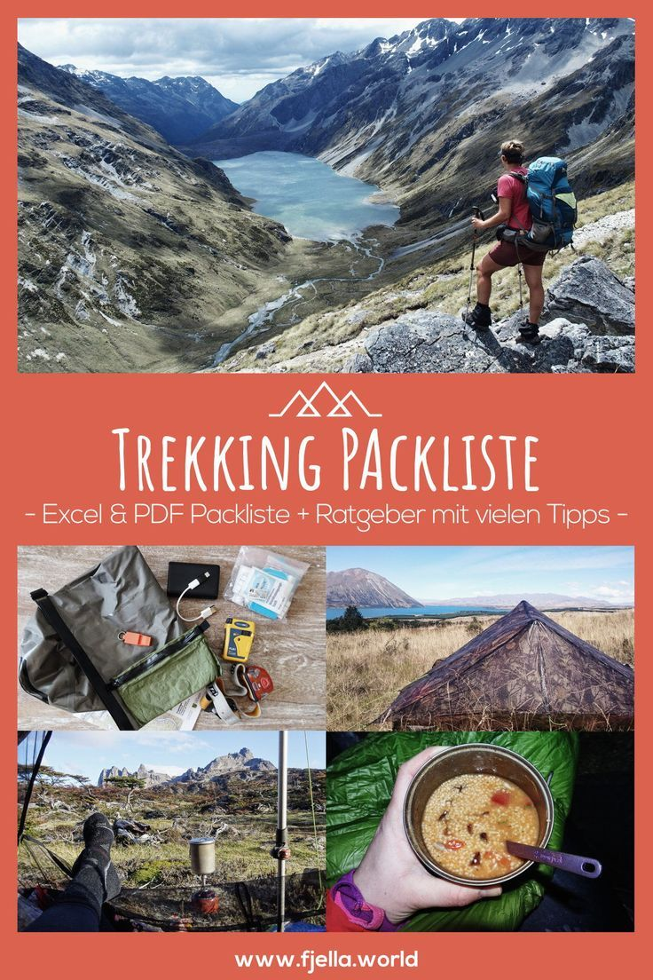 Trekking Packliste: Weitwandern mit Zelt – Ratgeber +