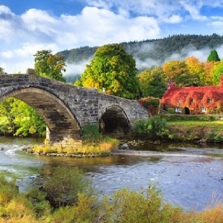 Llanwst, North Wales - photo by Steve Gill...my oh my, that looks like Hobbiton ;)