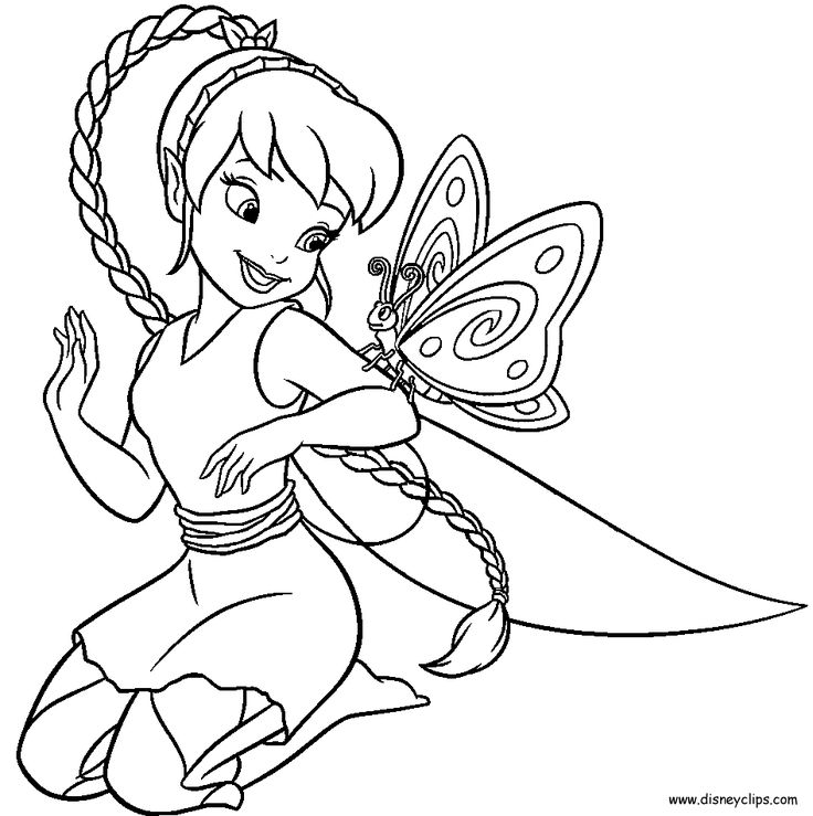 Disney Fairies Coloring Book Pages Coloring Coloring Pages