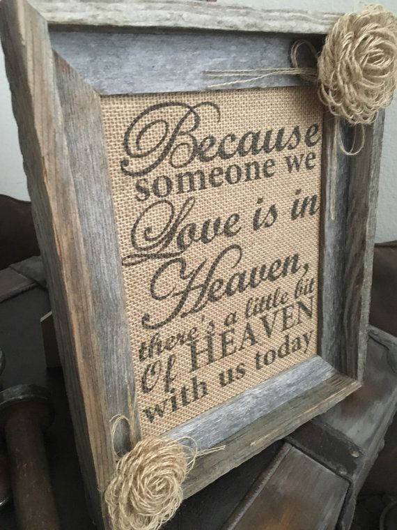 Primitive Barn Wood Framed Burlap Panel Loop by PrimitivePics