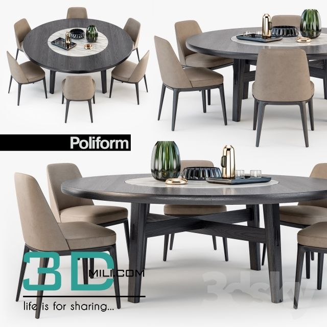 185 Table Chair 185 3d Models Free Download 3d Mili Download 3d Model Free 3d Models 3d Model Dow Dining Table Table And Chairs Dining Table Setting