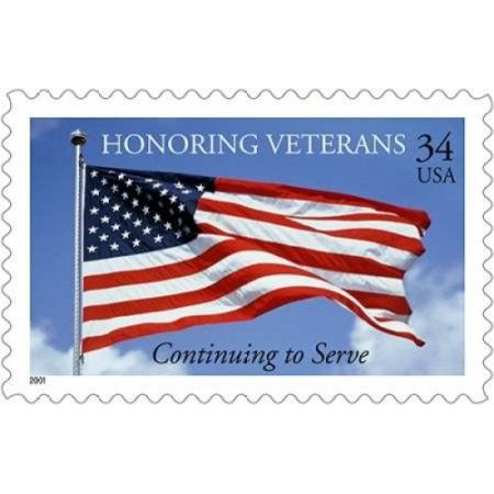 Honoring Veterans Canvas Art - US Postal Service (12 x 18)