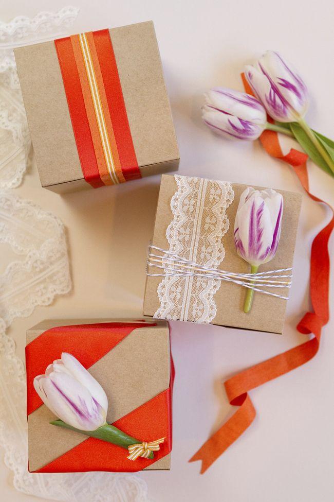 DIY Spring Wedding Favor Wrapping | Coastal Bride