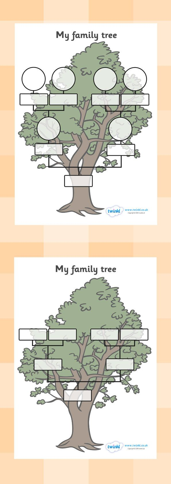 Twinkl Resources >> My Family Tree Worksheets  >> Thousands of printable primary teaching resources for EYFS, KS1, KS2 and beyond! family tree, family tree template, my family, parent, mum, dad, grandparent, grandma, grandad, family,