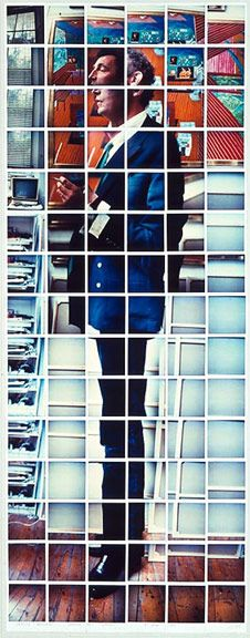 David Hockney - Patrick Procktor, Pembroke Studios, London 1982  composite polaroid