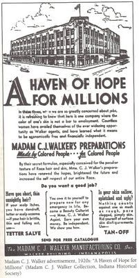 Style & Status: Selling Beauty to African-American Women, 1920-1975 A Haven of Hope for Millions. Madam C.J. Walker