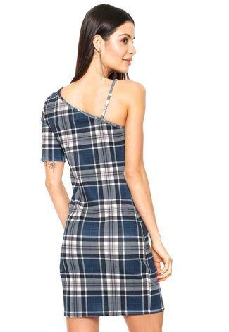 bd6f2fda4 Vestido Colcci Curto Ombro Único Azul/ Branco - Compre Agora   Kanui Brasil