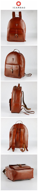 Handcrafted Vintage Leather Backpack Handbags, Unisex Backpack For School  6200