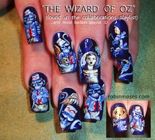Lions and tigers and wizard of oz themed nail art... oh my! Too cool!: Flying Monkey, Oz Nails, Nails Art, Robin Moses, Wwwnailsmagcom Nailart, Robins Moses, Dr. Oz, Wizards Of Oz, Monkey Nails