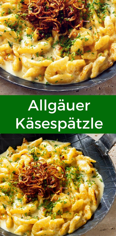 Käsespätzle gibt's nicht nur im Schwabenland, sondern auch im Allgäu. Hier kannst du das Rezept für den deftigen Klassiker nachlesen.